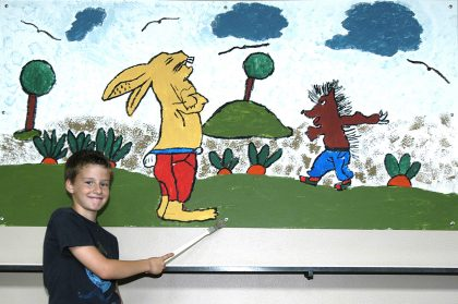 Kunstprojekt – Hase und Igel